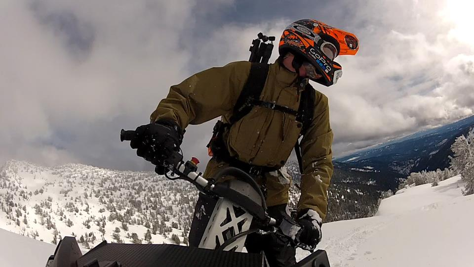Snowmobile Chad Voos rockin the RZ Mask in Oregon!