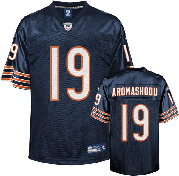 Sports Chicago Bears Devin Aromashodu Premier EQT #19 Blue Team Color Reebok NFL Jersey