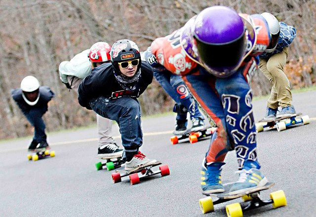 Skateboard king mountain race 2012 nikolas harrinton Lemay red Wheel yellowz sun glaces , and koswag all the way