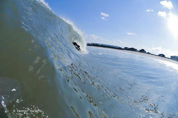 Surf Connor Halpin from Monmouth County, NJ sent in this pic of his friend pulling into a right nugget. To get featured just send your photos to social@oneill.com