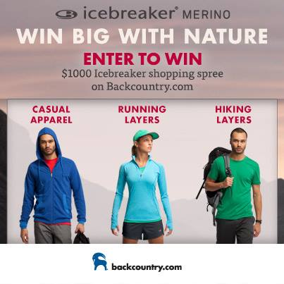 Enter to WIN a $1000 Icebreaker shopping spree: http://bit.ly/IcebreakerSweeps
