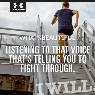 Fitness What's past your finish line? What's better than your personal best? Find out. Set a goal in the What's Beautiful competition.    http://whatsbeautiful.ua.com