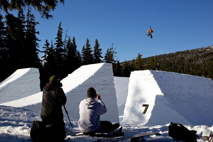 Snowboard Jody Wachniak executing a perfect backside air at Superpark 17.