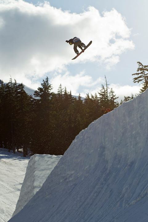 Snowboard Logan Haubrich destroying the Seven Springs hips with a FS 540. Snowboarder Magazine - Superpark 17.