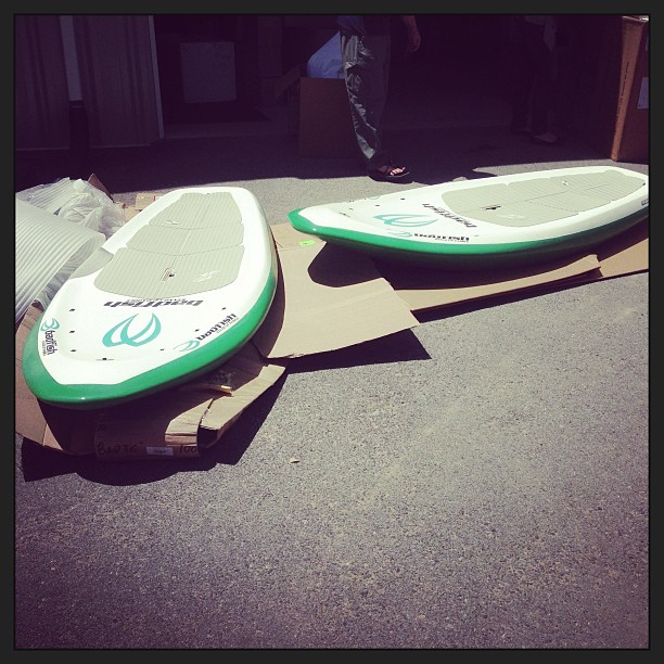 "Kayak and Canoe Badfish Stand Up Paddle MVP 7'6""  Sharkskin boards here. 100% bombproof. They are the only ones in the USA. One is sold - if you want the other one: http://www.coloradokayak.com/MVP-76-Badfish.html"