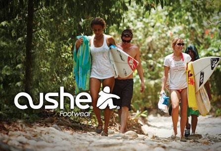 Surf Have you heard of Cushe footwear? They are ultra cushy, therefore their name. Take a look. http://bit.ly/10lTmFP