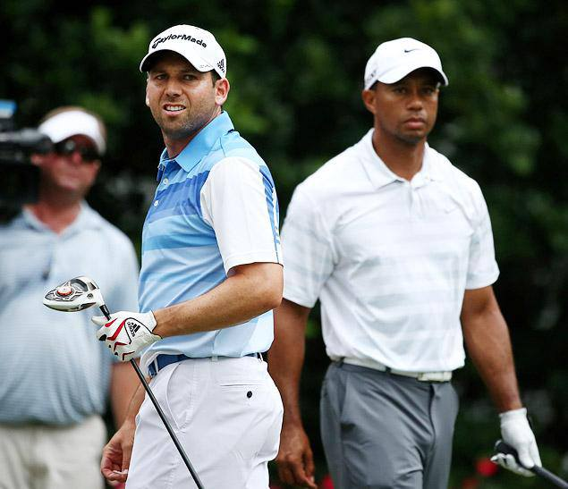 "Golf The Tiger/Sergio feud turned ugly yesterday. Garcia stepped over the line by cracking a racially charged joke about the world's number 1 golfer at the European Tour's gala awards dinner in England.  ""I want to give an unreserved apology. I didn't mean to"