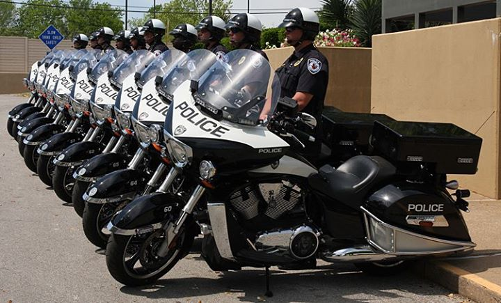 Auto and Cycle This is a photo of the Tyler, Texas Police Department and their Victory Police Motorcycles.   Check out this video about why law enforcement agencies are choosing Victory Motorcycles to help as they protect and serve: http://vic.mn/CVFeoV