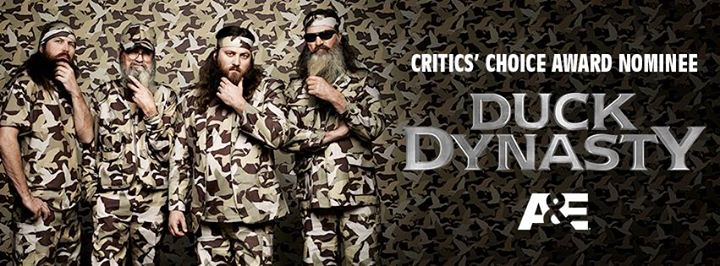 Hunting Quack quack, Duck Nation! Duck Dynasty is a Critics' Choice Awards nominee in the Best Reality Series category! LIKE and SHARE to show your support!