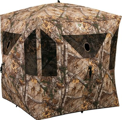 Hunting The Ameristep Bone Collector Blind boasts all the features a hunter could ask for in a ground blind. The heavy-duty Spider Hub technology five-hub design adds rigidity to the walls and ensures fast and easy setup and takedown. Cutting-edge, high-quality NS3 MicroTech fabric eliminates shine and all excess noise with its dull fleece finish and prevents fading with the exterior UV-protected microfiber shell. The carbon-enhanced, scent-blocking, black-coated interior helps contain odor and keep you hidden. The blind caters to the needs of both archery and firearm hunters with ten windows with shoot-through mesh. For the archer, Ameristeps-exclusive vertical window technology offers unparalleled shooting opportunities. There are also four big windows with gun ports. Add native brush to the brush pockets for outline-shattering concealment. Includes stakes, tie-downs and backpack carry case. Imported.Weight: 17 lbs.Dimensions: 75 shooting width x 67H. Packed: 42L x 8W.Camo pattern: Realtree XTRA. Type: Hub Blinds. Ground Blind Type: Hub Blinds. - $169.99