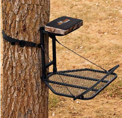 With its extra-large, nonslip, metal platform, the Big Game The Boss HD Hang-On Treestand delivers the rock-solid support youre looking for. Its expanded, deep-foot design measures a full 24 wide and 25 long. The generous, flip-up seat has 2 of foam cushioning for supreme comfort during your longer hunts. The 2-wide nylon web strap and slide buckle create an uncompromising grip on the tree. Stands are tested to TMA standards and include a TMA-certified full-body harness with Suspension Relief System (SRS). Seat height: 21. Seat size: 9L x 24W. Platform size: 24W x 25D. Weight: 18 lbs. Weight capacity: 300 lbs. A Video Public Service Announcement from the TREESTAND MANUFACTURERS ASSOCIATION Type: Steel. - $49.88