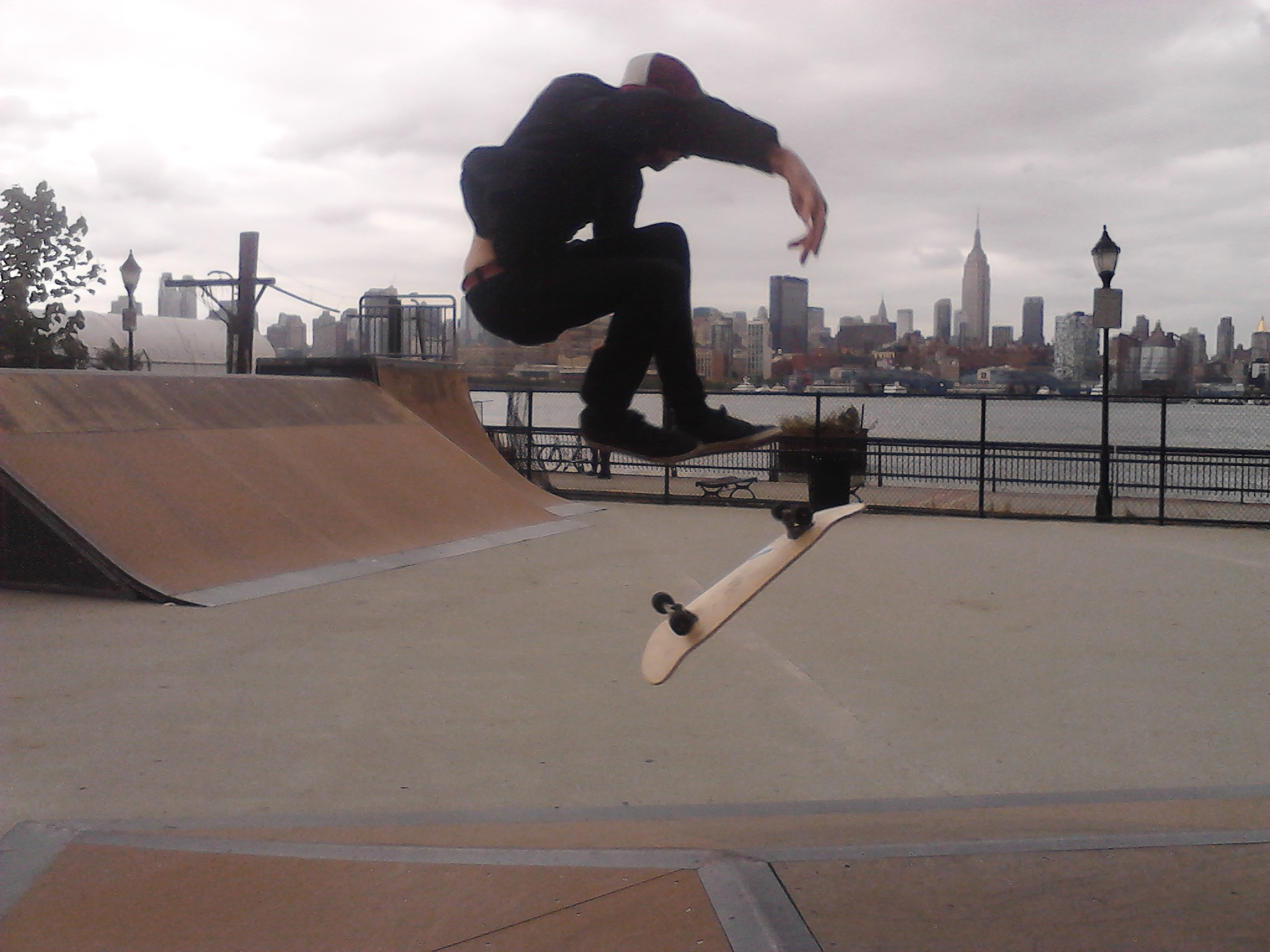 "Skateboard skate park in hoboken new jersey we found while skating 30 miles around the hudson river...if you like this check out our page athttp://www.facebook.com/thatsatrippadventures and ""like"" and share with friends!!!"