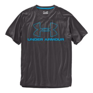 Fitness UA graphic T's are like all of our other T's-performance is built right into their DNA. UA Tech(TM) T-shirts are made from an innovative, light material that feels softer and more like cotton, but also wicks away sweat and dries fast. Lightweight UA Tech(TM) fabric with an ultra-soft, natural feel for unrivaled comfortSignature Moisture Transport System wicks sweat away from the bodyAnti-odor technology prevents the growth of odor causing microbesSmooth flatlock seams allow chafe-free motionPolyesterImported - $18.99
