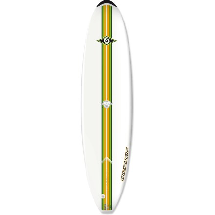 "Surf Perfect for first-timers dreaming of big wave glory, the BIC Sport 7' 3"" Mini Malibu surfboard offers first-class durability so you can test your skills in the surf without worrying about your board. Foam-injected polyurethane board offers excellent buoyancy and is durable enough to handle a tussle with rocks or the ocean floor. Consistent 2.5 in. thickness and minimal tapering at the tail and head of the Bic 7' 3"" Mini Malibu enhance stability. FCS fin system features 3 removable fins (1 center and 2 side) to aid straight tracking in the water. Closeout. - $259.73"