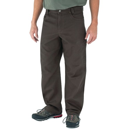 Camp and Hike With a sturdy construction, a soft feel and classic style, the Royal Robbins Billy Goat(R) Utility Corduroy pants with a 34 in. inseam will be staples of your cool-weather, casual wardrobe. Rugged cotton corduroy provides UPF 50+ protection from the sun's rays. 2 hand pockets, 2 rear pockets, a zippered thigh pocket and a zippered rear pocket provide storage for your essentials. Triple-needle stitching at high-stress points ensures long-lasting wear. Gusseted crotch and articulated knees allow good range of motion. The Royal Robbins Billy Goat Utility Corduroy pants have a regular fit. Closeout. - $48.73