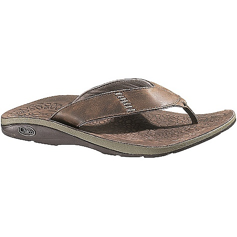 Surf On Sale. Free Shipping. Chaco Men's Cordonazo Flip Sandal DECENT FEATURES of the Chaco Men's Cordonazo Flip Sandal Nubuck leather upper Nubuck leather lining LUVSEAT XO2 platform Fixed fit EcoTread recycled rubber outsole The SPECS Weight: 10.58 oz / 300 g - $54.99
