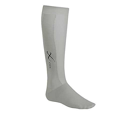 On Sale. CW-X Compression Support Socks FEATURES of the CW-X Compression Support Socks Seamless, variable compression 90% Nylon / 10% polyurethane 4-way stretch fabric improves circulation Built-in webbing supports the calf muscles, ankle joint and arch Cushioned sole and toe for comfort Sanitized, antimicrobial, antibacterial properties Moisture-wicking - $30.99