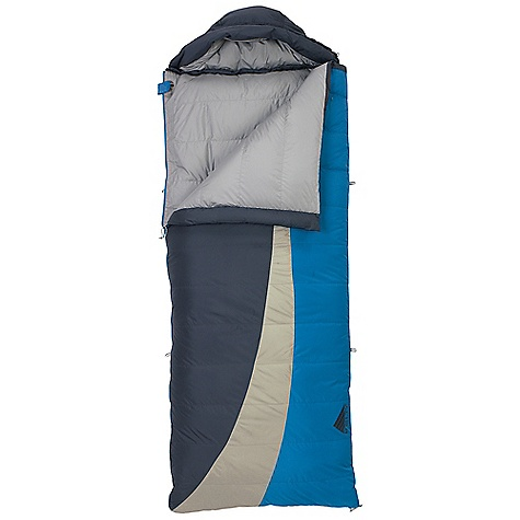 Free Shipping. Kelty Galactic 15 Degree Hoody Sleeping Bag DECENT FEATURES of the Kelty Galactic 15 Degree Hoody Sleeping Bag Box-baffle construction Dual slider locking blanket zipper Zipper draft tube with anti-snag design Can be fully unzipped and opened flat for use as a blanket Form fitting hood unzips from bag for warmer weather use Internal liner loops Sleeping pad security loops Hang loops for storage Storage sack included Stuff sack included FatMan and Ribbon drawcords Captured cordlock Zippered chest pocket Two bags can be zipped together to form a double-wide The SPECS Temperature Rating: 15deg F / -9deg C Shape: Rectangular Insulation: 550 Fill-Power Down Shall: 50D Polyester Ripstop Liner: 50D Polyester Micro Pongee Fits To: 6' / 183 cm Length: 83in. / 211 cm Shoulder Girth: 64in. / 163 cm Fill Weight: 2 lbs 1 oz / 0.92 kg Total Weight: 3 lbs 12 oz / 1.68 kg Stuff Diameter: 8in. / 20 cm Stuff Length: 17in. / 43 cm - $189.95