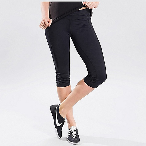 Fitness On Sale. Free Shipping. Lole Women's Run Capri FEATURES of the Lole Women's Run Capri Capri with mesh inserts for more breathability Zip pocket at back of waistband Lined gusset at crotch allows for more stretch Flat seams for comfort, removing that uncomfortable bump against your lower back when laying flat on your yoga mat or while doing sit-ups Fabric has moisture-wicking technology that moves sweat away from your body to keep you cool during your workout The 4 way stretch fabric allows for full range of motion Quick dry fabric keeps you feeling comfortable and dry, even at your sweatiest UPF 50+ rating protects you from those harsh UV rays Reflective logo for added visibility during low light runs Security pocket great for holding house key or ipod - $34.99