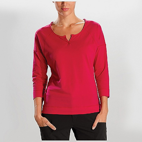 Lole Women's Adore Top DECENT FEATURES of the Lole Women's Adore Top 3/4 sleeve top with drop shoulders Henley neckline with raw edge binding Length: 25in. / 63.5 cm - $44.95