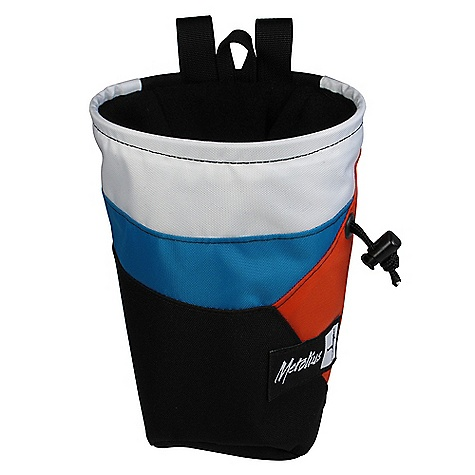 Climbing Metolius Chalk Pod Stripe Chalk Bag DECENT FEATURES of the Metolius Chalk Pod Stripe Chalk Bag Ergonomic cut combined with large volume Full-length pile lining Stiff, easy access rim Brush holder Includes belt w/side-release buckle Rear zippered pocket for MP3 player - $19.95
