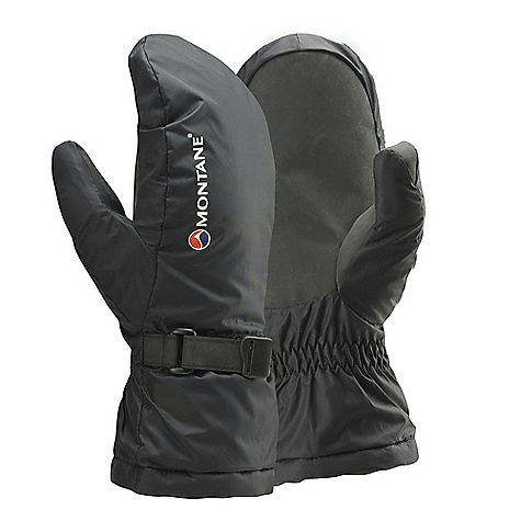 Climbing Free Shipping. Montane Extreme Mitt DECENT FEATURES of the Montane Extreme Mitt Pertex Classic 6 outer shell that is highly windproof, breathable and fast drying Dry Active 2000 pile lining beds down to the shape of your hand and wicks sweat hard 226g Primaloft filling on back of hand Tough Hypalon palm for increased durability Adjustable hem to prevent spindrift entry and heat loss Locking wrist cinch to reduce excess fabric across back of hand Montane stuff sac for perfect storage The SPECS Weight: L: 4.1 oz / 115 g Activities: Alpine Climbing / Mountain Walking / Trekking / Outdoor Professional Glove Outer: Pertex Classic 6 Lining 1: Dry Active 2000 Lining 2: Primaloft 226g This product can only be shipped within the United States. Please don't hate us. - $53.95