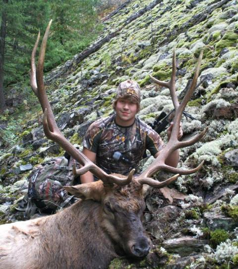 Hunting Biggest bull yet! Shot in the Cabinet Mountains, Montana.