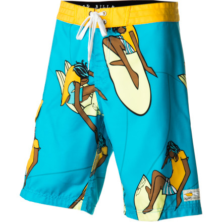 Surf The Billabong Andy Davis Shredding Board Shorts bring sweet style to your water-based life. Throw these shorts on when the water gets warm enough to hang up your wetsuit and keep them on all summer  long. - $59.45