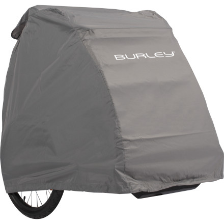 MTB Regardless of which Burley trailer you're using, Burley strongly recommends storing it under its Storage Cover. This cover will keep the dust off of where Junior, Rex, or your groceries rest, keeping everyone and everything happy and spider-free. Additionally, Burley constructed the cover from a water-resistant, 600D polyester. So, you'll be able to store your trailer outside should you find your available garage space too cumbersome. The cover has been designed to simply slip over your trailer. So, you won't have to fuss with any zippers, clasps, or buckles in order to protect your investment. The Burley Storage Cover is available in one color and one size. - $68.95