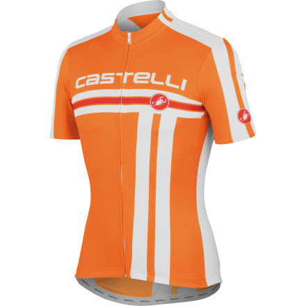 Fitness As we've learned from our many years on this earth, some things take time but not everything is worth the wait. However, the Castelli Free FZ Jersey certainly was -- don't let the price fool you. In fact, Castelli is so confident in the Free jersey's abilities that it's outfitted Garmin Barracuda with the same cut and fabrics. Castelli constructed the Free FZ from its proprietary Prosecco Strada fabric. This material was selected for three reasons -- its controlled stretch, light, breathable weight, and all-encompassing comfort. Going in order of operations, the controlled stretch of the fabric creates a supportive fit that dampens the effect of road vibration and oscillation in order to minimize muscle fatigue. Additionally, it permits Castelli to maximize the shape of the jersey for the perfect cycling fit. Secondly, Prosecco Strada features a lightweight composition that feels light and airy on the skin, while remaining highly breathable. This has been furthered through the incorporation of subtly placed mesh side panels. So, you don't have to worry about overheating during long, exhaustive efforts in the saddle. However, no matter how good the material, sweat is inevitable. That's why Castelli also gave the jersey its patented Prosecco treatment. This process is a topical, hydrophilic treatment that spreads moisture out over a larger surface area for rapid evaporation. Ultimately, it keeps you cooler and drier over your race or ride. The Free jersey has been cut along a race style. In fact, an observant eye can see that the Garmin Barracuda Team jersey features the same cut, fabric, and components as the Free. But, what makes the fit pro-level' Well, Castelli designed the jersey on a contour -- this is most evident when the jersey is hanging on the rack. So, the seams are shaped to your body while it's in the cycling position. Additionally, the jersey has what Castelli calls, set-in sleeves. - $79.96