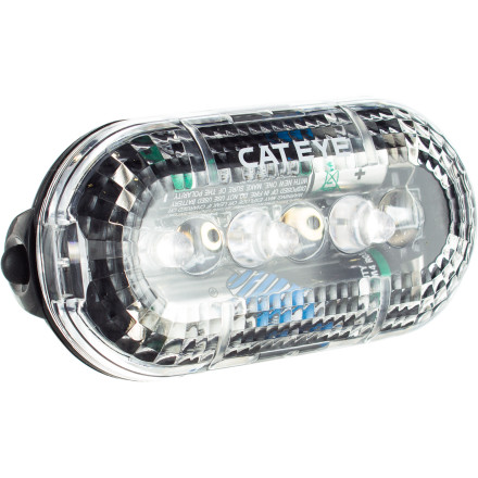 MTB With CatEye's TL-LD130 Headlight, you receive a compact design, triple-LED safety, and an economical price. The white LED X3 light source provides three modes of display -- constant, flashing, and random flashing -- to let choose how you'd like to be seen by others while out on the roads. Two  batteries are included and provide up to 150 hours of run time (in flashing mode). CatEye's exclusive FlexTight bracket lets you securely attach the light to your bars, and the included clothing clip allows you to mount the TL-LD130 on your helmet, jacket, or bag. The CatEye TL-LD130 is 36.0 X 77.0 X 24.0mm and weighs approximately 48 grams (with bracket and batteries). - $8.95