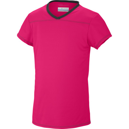 Games of kickball, afternoons at the playground, and hikes with the family are more comfortable when you're girl is wearing the Columbia Girls' Vista Ridge Short-Sleeve Top. Lightweight, breathable, and moisture-wicking, this performance top was made for active summer days. - $14.95