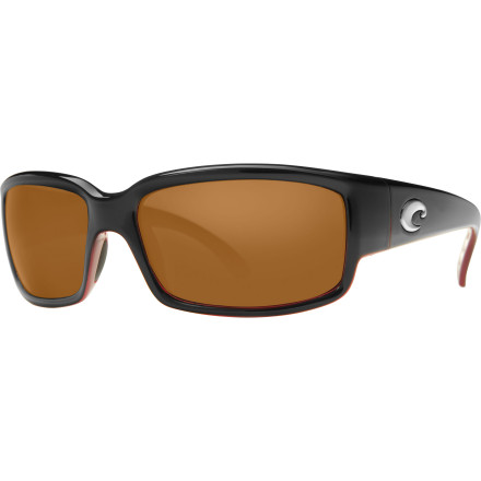 Camp and Hike The hot look and sexy feel of the Costa Del Mar Caballito Polarized Sunglasses might make you forget about the glare-cutting, crystal-clear optics these shades deliver. You'll be too busy strutting your stuff at the beach and turning heads to notice the ultralight comfort and durable protection the the polycarbonate lenses and TR-90 nylon frame provide. All the flexible comfort and a secure fit will make you forget you're even wearing them; but then again, that might be the point. - $128.95