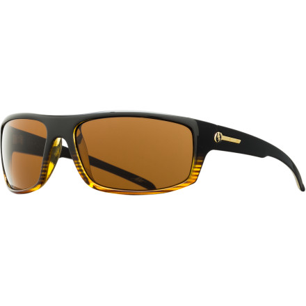 Camp and Hike Wrap the Electric Tech One Sunglasses around your head and understand the true meaning of high style and undeniable sensibility. These wraparound shades surround your sight with glare-cutting, eye-opening clarity and comfort, thanks to polarized polycarbonate lenses that resist impact and reduce eye fatigue. That smoking-hot frame not only gives you cover after a rough night but makes you better-looking than ever. And made from mold-injected nylon grilamid, it provides light, strong, temperature-resistant protection for your face and the lenses shielding your eyes from the burning sun. - $99.95