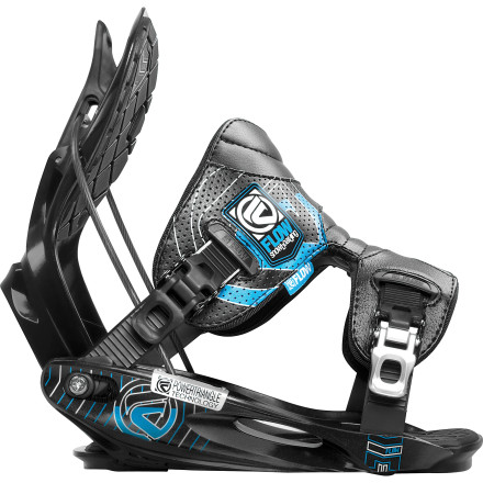 Snowboard Slide your boots into the Flow M11 Snowboard Bindings, ratchet down the one-piece A-Flex Powerstraps, and experience a new world of comfort and response. With the M11s connecting you to your board, dropping cliffs and straight-lining slopes so steep they're practically upside-down are irresistible possibilities. - $150.49