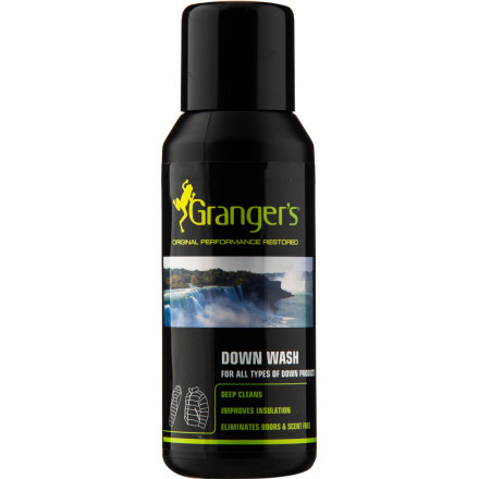 Camp and Hike If you live up in the mountains or in a cool climate, you're used to living in a down jacket for six months of the year. With a bottle of Grangers Down Wash, you can safely remove a half a year's worth of stains and funky odors from your beloved puffy. Even better, the down-specific formula restores loft and won't strip the down of its natural oils like common detergents will. - $9.00