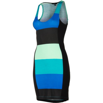 Surf The Hurley Women's Babes Dress mixes a sporty cut and a bold color palette to give you an eye-catching look that is chic and exciting. Rock this statement dress whenever you want to get noticed. - $39.45