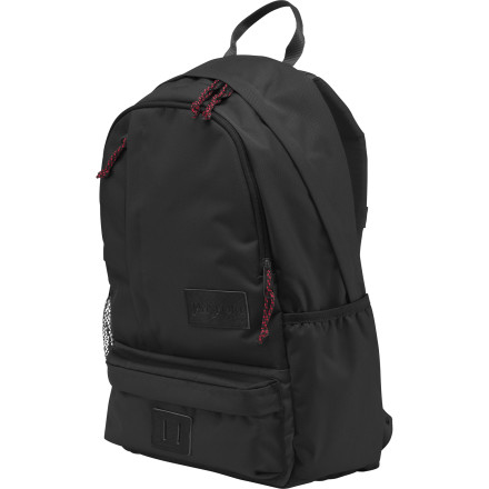 Camp and Hike Your feature-loaded hiking pack is great for long days on the trail, but when it comes to school and work, you just want the basics. The Jansport Thunderclap Backpack has a simple design intended to get you through the average day in the city. The main compartment's laptop sleeve safely secures your computer with room to spare for the rest of your stuff. A zippered front pocket keeps small essentials from getting scattered, and ergonomic shoulder straps keep you comfy when you're strolling through campus. - $49.95