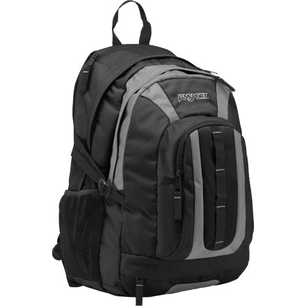 Camp and Hike Take the Jansport Coho Backpack with you to catch a couple of classes in the morning before hitting your favorite trail for the afternoon. Two main compartments keep your hiking gear and your school supplies separate, and an internal laptop sleeve secures your computer after you're done using it. Side compression straps streamline loads both large and small, and ergonomic S-curve shoulder straps ensure a comfortable fit mile after mile. - $49.95