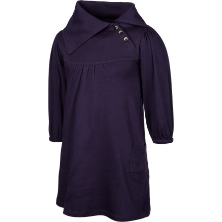 The Kate Quinn Organics Girls' Lounge Long-Sleeve Dress shows off your young lady's innate sense of style when you help her pair it with leggings and boots for the next family event. - $31.95