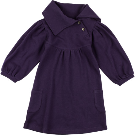 Have your little lady rock a sophisticated look when she wears the Kate Quinn Organics Toddler Girls' Lounge Long-Sleeve Dress at the next family gathering. - $31.95