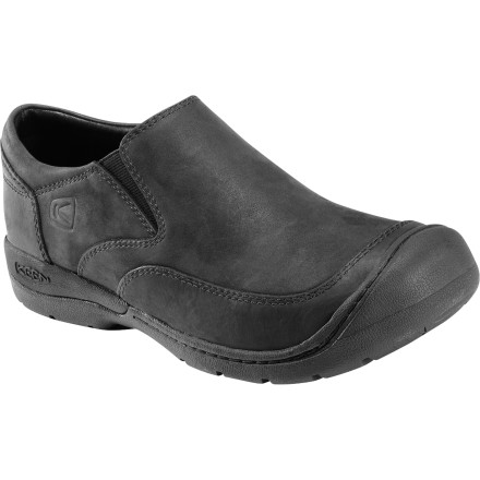 The KEEN Bidwell Slip-On Shoes are dressy enough for the office and rugged enough to wear everywhere else, and the ultra-comfortable KEEN.CUSH footbeds use memory foam to give your feet a plush ride. - $55.00
