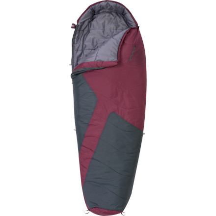 Camp and Hike The versatile, budget-friendly Kelty Women's Mistral 20 Degree Synthetic Sleeping Bag gives you quality comfort without the high cost. This EN-rated bag delivers three-season warmth for outdoor living in the desert, on mountaintops, or dense forests. When the nighttime temperatures drop, a draft tube, quilted construction, cinching drawcords, differential cut, and ground-level seams let the efficient and light CloudLoft insulation do its thing. And convenient details like liner and sleeping pad loops and a pillow pocket to keep everything tidy and in place make the night more restful. - $74.95