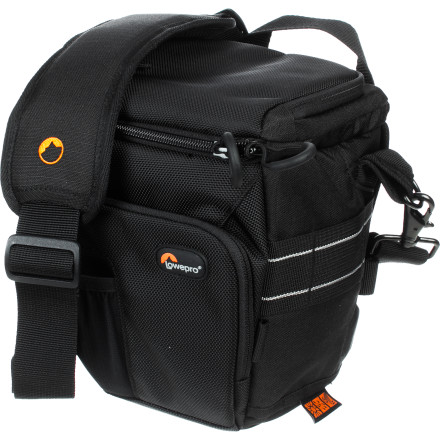 Camp and Hike Travel with your camera inside the LowePro Toploader Pro 65 AW Bag and your camera will always be at the ready when you're on the go. Your camera rests grip-up underneath the top/side access of this rugged shoulder bag, so you can reach in, pull your camera out, and be ready to get the shot in a moment. This bag's tough construction protects your expensive gear and the built-in rain cover protects everything from the elements. - $69.99