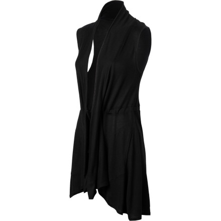 The luxurious feel and easy fit of the Lucy Women's Enlighten SL Wrap make you melt after a twisty, stretching workout. This sleeveless wrap breathes for cool comfort, feels like silk, and drapes with ease. A drawcord waist gives you a flattering shape with all that comfort, and there are even pockets to dip into when you strike a casual pose. Now that's elegant wrapping. - $69.00