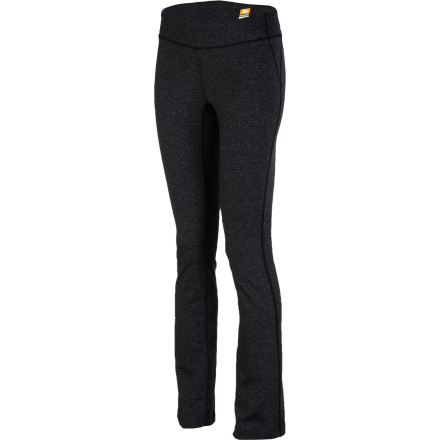 Fitness The long and lean Lucy Women's Lotus Pant flatters your figure but means business. Its PowerMax construction wicks away moisture to keep you cool and dry and stretches so you can, too. This yoga-loving pant  knows you practice well when you're free and comfortable, so it features flatlock seams and a gusset inset. An elliptical waist dips in the front and adds coverage in the back, so you can bend over like a taco worry-free. And the slim, straight leg means you can stop at the grocery store or practice in the park while looking fine. - $89.00