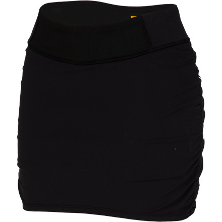 Fitness Let's see: today should you wear a short, short, or short' How you are sick of your one-option running wardrobe. Well the Lucy Women's Get Fit Skirt is here to shake things up a bit. With a mini-skirt look and secure comfort of an inner short, this high-tech bottom gives you a great-looking alternative. The inner short wicks away moisture and stretches for optimal performance and comfort, and the outer skirt skims the body in flattering femininity. A mesh inset at the waist keeps you cool and swamp-free, so you don't ruin that great look with soggy discomfort. - $69.00