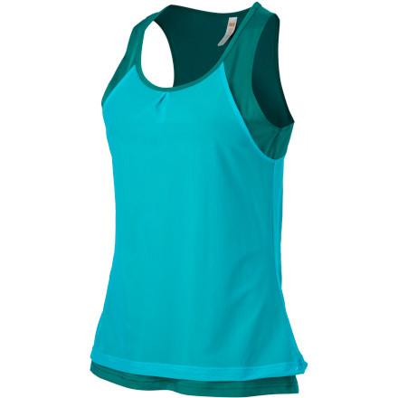 Fitness Made from jersey polyester with a mesh overlay, the Lucy Women's On Your Mark Singlet is your go-to top for daily runs and cross-training sessions. The flatlock seams ensure chafe-free comfort and the drop-back hem lends some extra coverage while you stretch. - $49.00