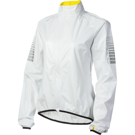 Fitness Cycling is a sport that owes much of its harrowing nature to Murphy's Law. If something can go wrong on your bike, or with the weather, chances are it probably will. Luckily though, keeping the Mavic Oxygen H20 Jacket on hand will dramatically reduce your chances of having a another ride ruined by a deluge. The Oxygen H20 is a seam-sealed storm fortress constructed from Mavic's superlight and waterproof Dura Lite Rain SL fabric. The jacket's subtle elasticity and unique ergonomic fit ensures complete weatherproof coverage as you're hammering away in the saddle. Mavic also included a unique asymmetrical zipper to limit zipper irritation and pressure points from your layers. Best of all' Once Murphy has done his worst and given up, you can stash the jacket in the bottom of a jersey pocket, with plenty of room to spare for your essentials. - $199.90