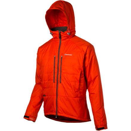 When cold temperatures and high humidity stand between you and the summit, be sure to zip up the Montane Men's Flux Insulated Jacket. The strategically layered Primaloft Eco synthetic insulation supplies warmth regardless of the humidity level while the Pertex Microlight shell fabric blocks the wind and shrugs off passing showers. So whether you're hunkered down on a belay ledge or waiting out an unexpected storm, zip up the Flux and ensure that warmth remains a constant in a rapidly changing mountain environment. - $139.27